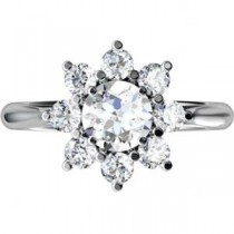 Diamond Cluster Ring in 14k White Gold (1.75 Ct. tw.) (1.75 Ct. tw.)