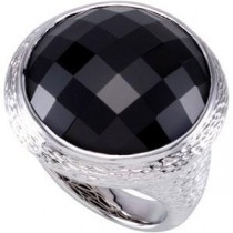 Checkerboard Onyx Rings in Sterling Silver