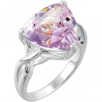 Rose De France Quartz Ring in Sterling Silver