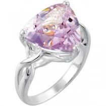 Rose De France Quartz Ring in Sterling Silver
