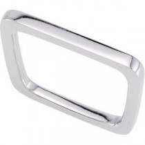 Square Shaped Stackable Ring in Sterling Silver