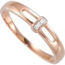 Diamond Ring in 14k Rose Gold (0.015 Ct. tw.) (0.015 Ct. tw.)