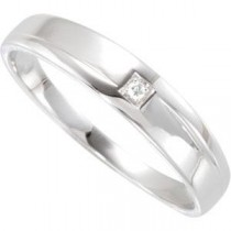 Diamond Ring in 14k White Gold (0.01 Ct. tw.) (0.01 Ct. tw.)