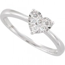Diamond Heart Ring in 14k White Gold (0.125 Ct. tw.) (0.125 Ct. tw.)
