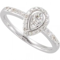 Diamond Ring in 14k White Gold (0.375 Ct. tw.) (0.375 Ct. tw.)