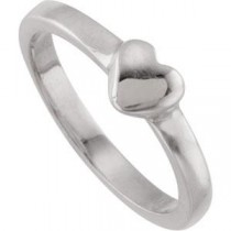 Heart Fashion Ring in Sterling Silver