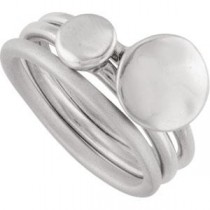 Set Of Stackable Rings in Sterling Silver