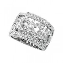 Ct Tw Openwork Diamond Band in 14k White Gold (0.5 Ct. tw.) (0.5 Ct. tw.)