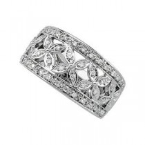 Ct Tw Diamond Band in 14k White Gold (0.33 Ct. tw.) (0.33 Ct. tw.)