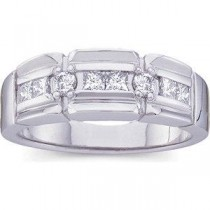 Ct Tw Gents Diamond Ring in 14k White Gold