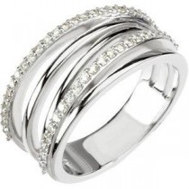 Ct Tw Diamond Ring in Platinum (0.375 Ct. tw.) (0.375 Ct. tw.)