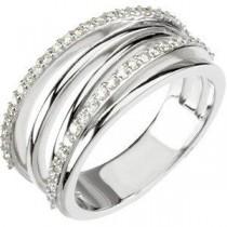 Ct Tw Diamond Ring in Platinum (0.375 Ct. tw.) (0.375 Ct. tw.)