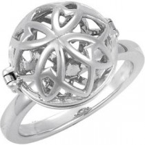 Open Cage Ring in Sterling Silver