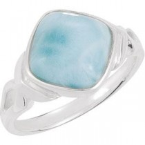 Genuine Larimar Ring in Sterling Silver