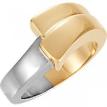 Fashion Band in 14k Two-tone Gold