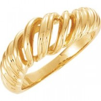 Metal Fashion Ring in 14k Yellow Gold