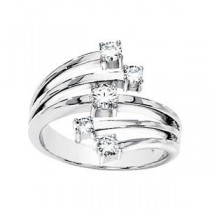 Moissanite Ring in 14k White Gold (0.5 Ct. tw.)
