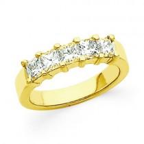 Five Stone Diamond Anniversary Rings