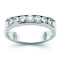 Channel Set Diamond Anniversary Rings