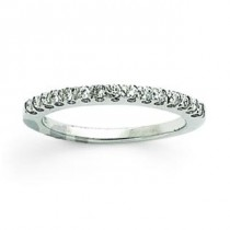 Pave Diamond Anniversary Rings