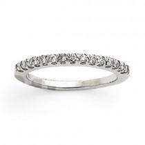 Pave Diamond Anniversary Rings