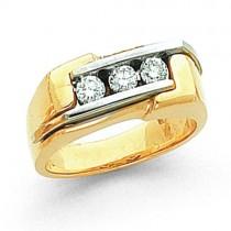 Three Stone Diamond Anniversary Rings