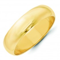 Classic Half Round Wedding Band (6.00 mm)