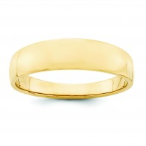 Tapered Half Round Wedding Band (6.00 mm)