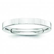 Comfort Fit Flat Wedding Band (2.50 mm)