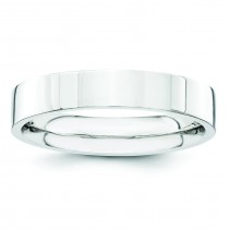 Comfort Fit Flat Wedding Band (4.00 mm)