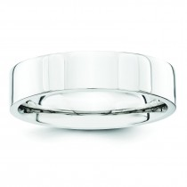 Comfort Fit Flat Wedding Band (5.00 mm)