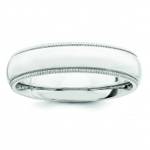 Comfort Fit Milgrain Wedding Band (5.00 mm)