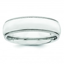 Comfort Fit Milgrain Wedding Band (6.00 mm)