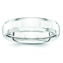 Beveled Edge Band Wedding Band (5.00 mm)