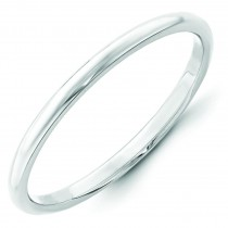 Classic Half Round Wedding Band (2.00 mm)