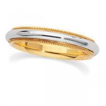 Classic Milgrain Wedding Band (3.50 mm)