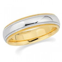 Classic Milgrain Wedding Band (5.50 mm)
