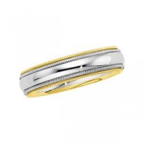 Double Milgrain Wedding Band (5.50 mm)