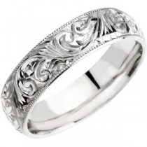 Hand Engraved Band (6.00 mm)