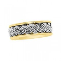 Two Tone Hand Woven Band (7.00 mm)