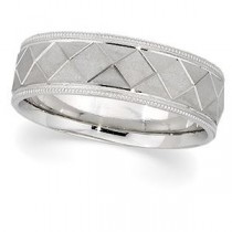 Classic Milgrain Wedding Band (7.00 mm)