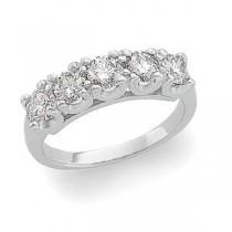 Five Stone Diamond Anniversary Rings (1.25 Ct. tw.) (1.25 Ct. tw.)