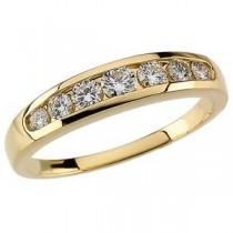 Channel Set Diamond Anniversary Rings (0.375 Ct. tw.) (0.375 Ct. tw.)