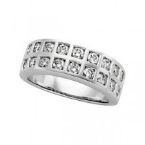 Pave Diamond Anniversary Rings (1.25 Ct. tw.) (1.25 Ct. tw.)