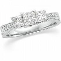 Three Stone Diamond Anniversary Rings (1 Ct. tw.) (1 Ct. tw.)