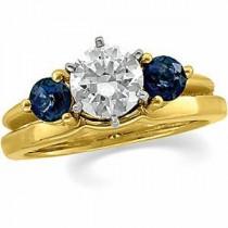 Sapphire Solitaire Bridal Enhancer