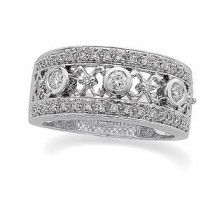 Pave Diamond Anniversary Rings (0.375 Ct. tw.) (0.375 Ct. tw.)