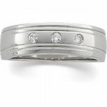 Three Stone Diamond Anniversary Rings (0.125 Ct. tw.) (0.125 Ct. tw.)