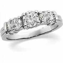 Three Stone Diamond Anniversary Rings (1.16 Ct. tw.) (1.16 Ct. tw.)