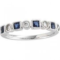Diamond Gemstone Anniversary Rings  (0.2 Ct. tw.) (0.2 Ct. tw.)